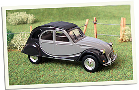 2cv charleston grise miniature
